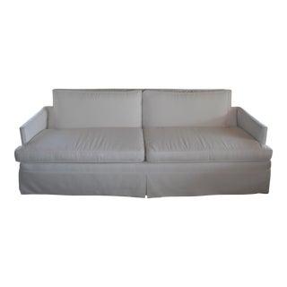 White Sunbrella Mid-Century Sofa