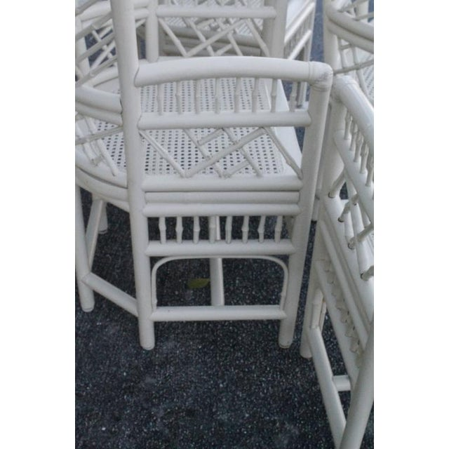 Brighton Pavilion High Back Rattan Chinese Chippendale Chairs - Set of 4 - Image 9 of 11