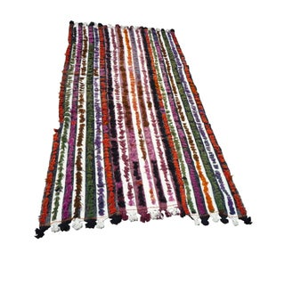"Vintage Multi-Color Tulu Rug- 6' 1"" x 9'"