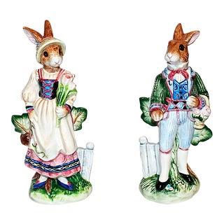 Fitz & Floyd Bunny Rabbit Shakers - a Pair