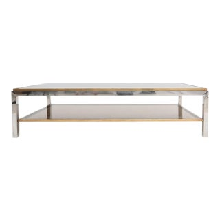 Willy Rizzo Signed Two-Tier Coffee Table