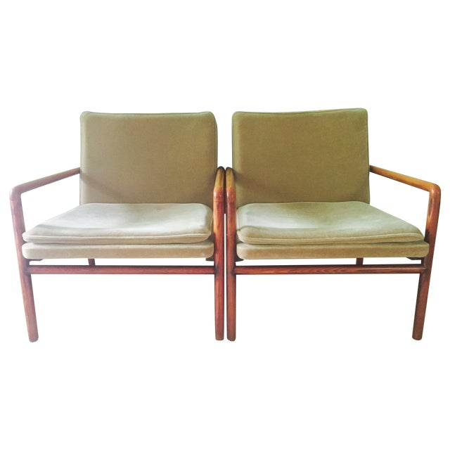 Mid Century Lounge Chairs - a Pair - Image 1 of 11