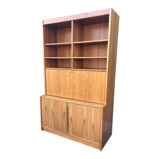 Danish Modern Secretary Desk Bookshelf