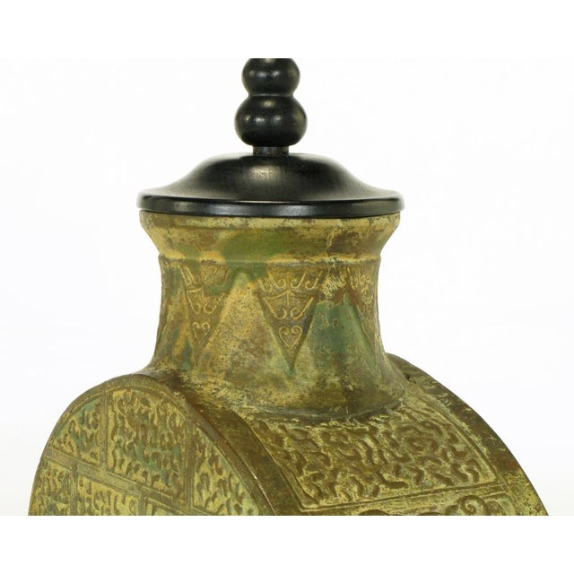 Pair Monumental Bronze Chinese Urn Table Lamps - Image 6 of 9