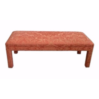 Bench With Damask Upholstery