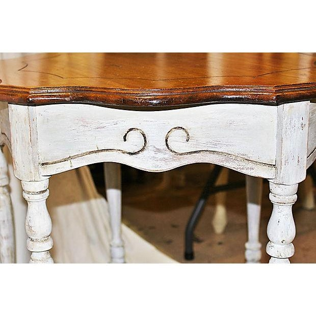 Antique White Shabby Chic Side Table - Image 7 of 8