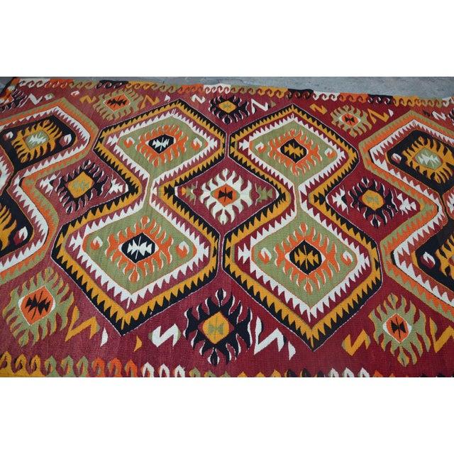 "Turkish Kilim Wool Rug - 5'8"" x 10' - Image 4 of 6"