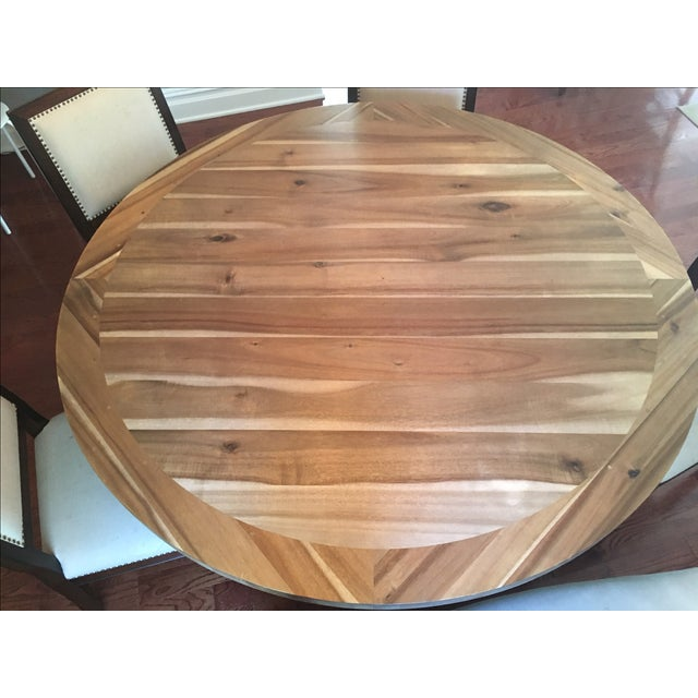 Restoration Hardware Round Dining Table - Image 4 of 5