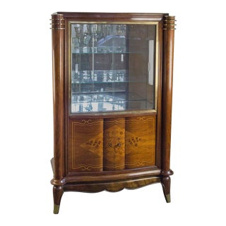 French Silver Cabinet in the Style of Leleu