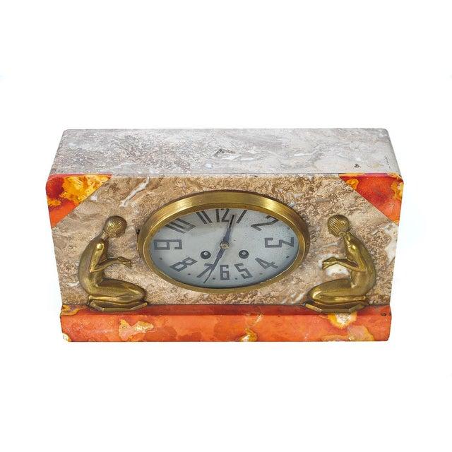 Art Deco Vintage Marble & Bronze Clock C.1930 - Image 1 of 9