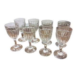 Antique French Wine Glasses - Set of 8