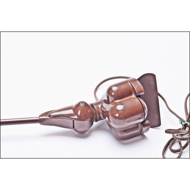 Image of Vintage Industrial Brown Clamp On Articulating Desk Lamp