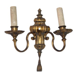 Double Arm Bronze Sconce