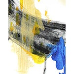 Image of Black, Yellow & Blue Abstract Painting