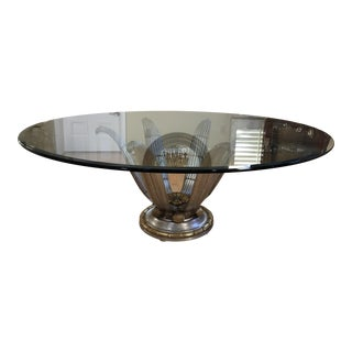 Italian Glass Top Dining Table