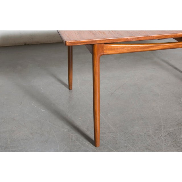 Mid-Century Carved Teak Dining Table - Image 5 of 9