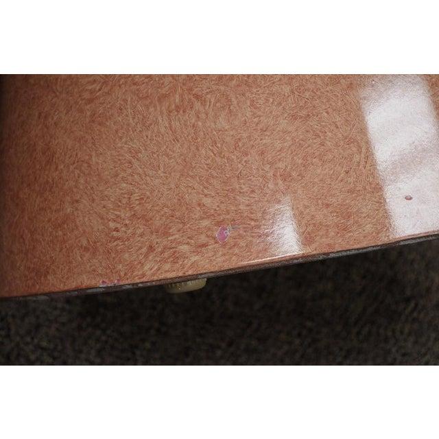 Vintage Mid-Century Modern Hollywood Regency Pink Tear Rain Drop Coffee Table - Image 6 of 11