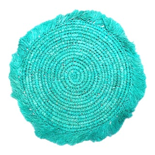 Balinese Turquoise Blue Rafia Placemat