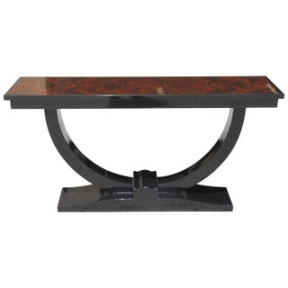 French Art Deco Macassar Ebony Parquetry Console