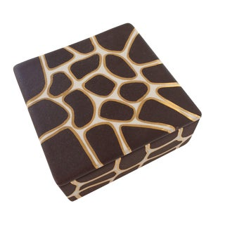 22kt Gold Waylande Gregory Giraffe Trinket Box