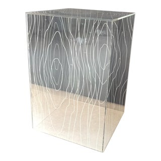 Contemporary Acrylic Timber Side Table