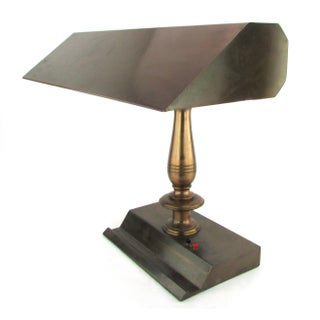 1940s Bronze Finished Desk Lamp