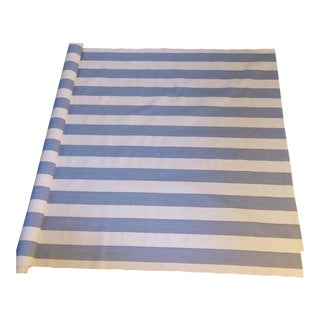 French Blue & White Striped Cotton Fabric