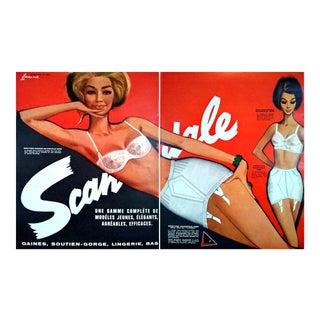 Pierre Couronne 1962 Scandale Lingerie Spread- 2 Page