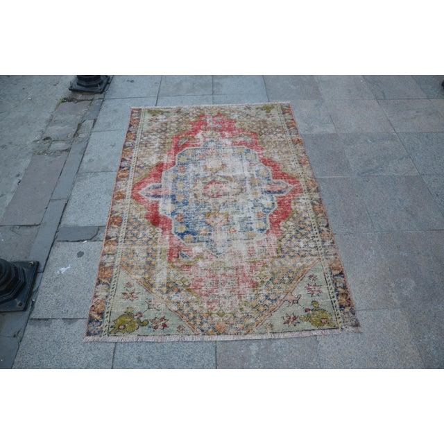 "Handmade Anatolian Tribal Rug - 45"" x 63"" - Image 2 of 6"