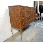 Image of Mastercraft Credenza With Brass Pulls & Legs