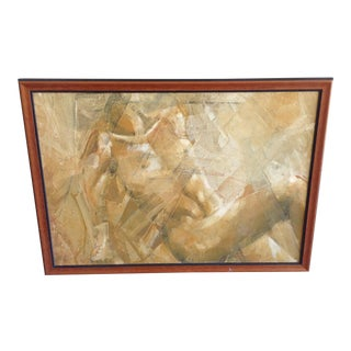 Abstract Nude Oil Painting