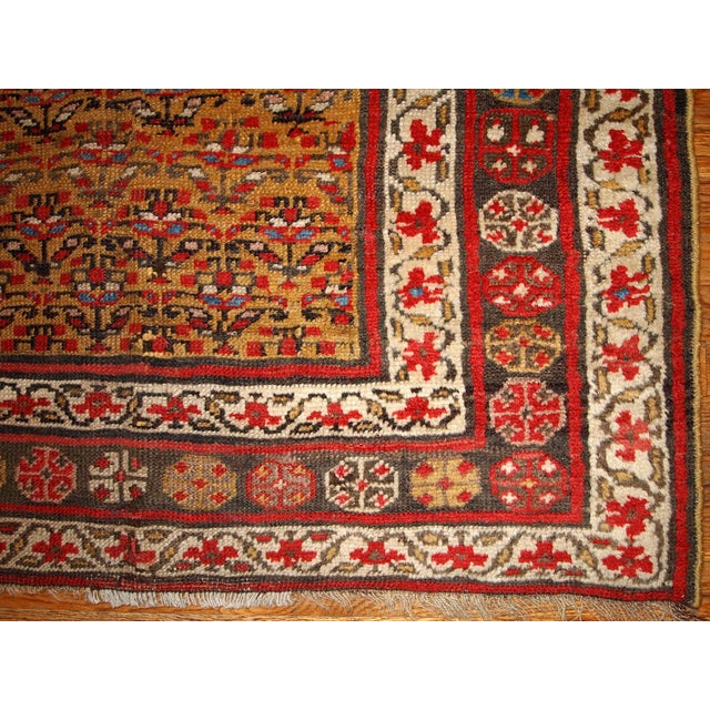 1880s Hand Made Antique Persian Kurdish Rug - 4′1″ × 7′8″ - Image 2 of 6