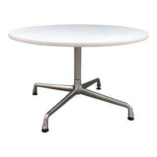 Vintage Herman Miller Eames Aluminum Group White Laminate Table