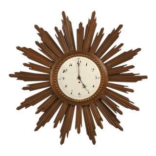French Porcelain Face Sunburst Clock