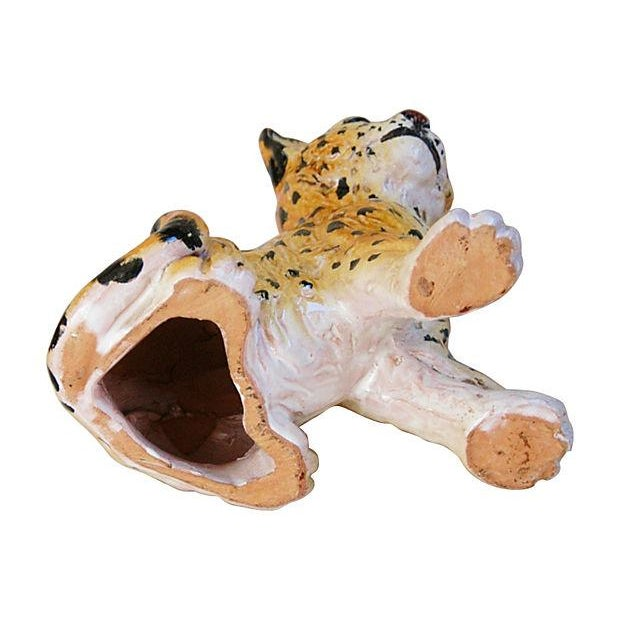 Hand-Painted Italain Terracotta Cheetah - Image 7 of 7