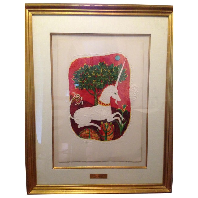 "Judith Bledsoe ""Unicorn in My Sweet Garden"" - Image 1 of 5"