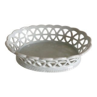 Furstenberg Porcelain Lacey Fruit or Serving Basket