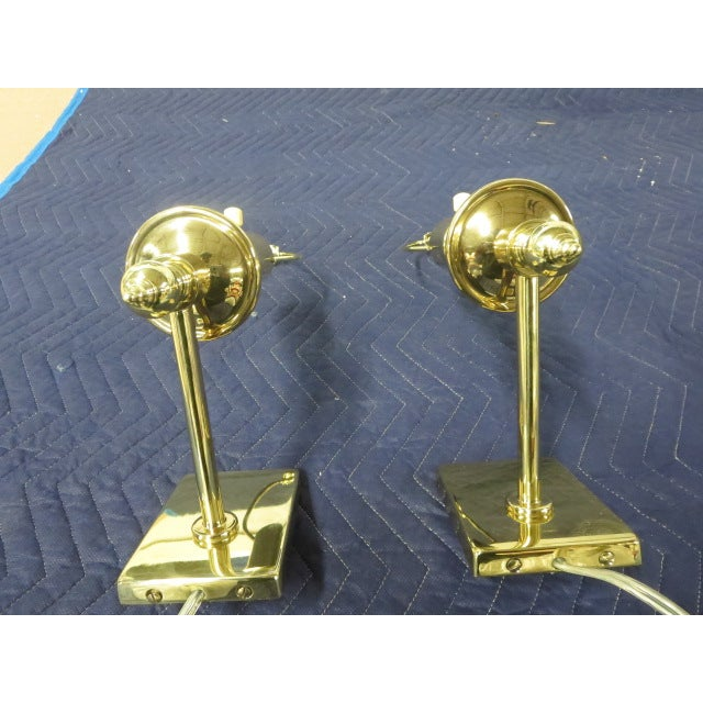 Brass Single Arm Hinson Sconces - 2 - Image 6 of 6