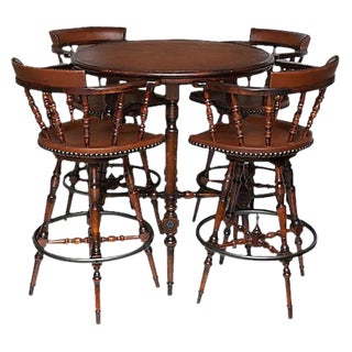 Spanish Colonial Style Drinks Table & Chairs Set
