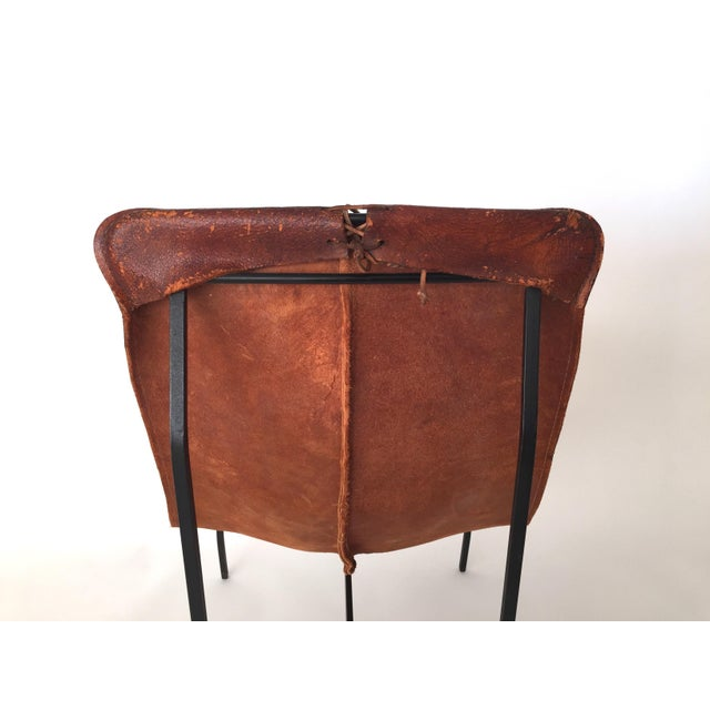 William Katalovos Leather Sling Chair Chairish