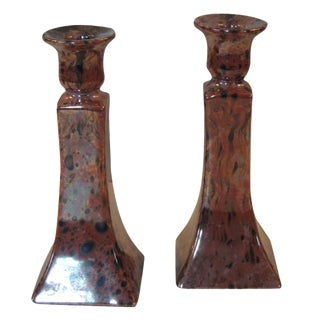 Mid-Century Modern Candle Holders - A Pair