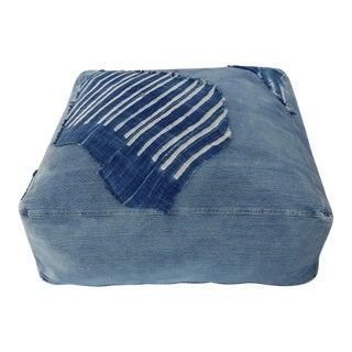 Indigo Floor Cushion Ottoman