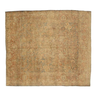 "Pasargad NY Antique Hand Knotted Sarouk Rug - 8'8"" X 9'10"""