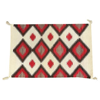 Early 20th Century Woven Red Navajo Saddle Blanket