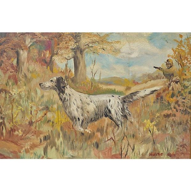 The Hunting Dog Oil Painting - Image 3 of 3