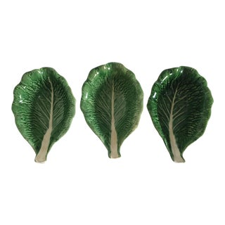 Portuguese Lettuce Leaf Bowls - Set of 3