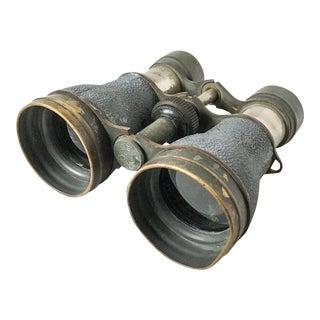 Antique Metal Opera Glasses Magnifying Binoculars