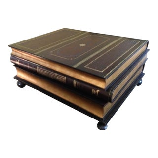 Maitland Smith Leather & Gold Leaf Coffee Table