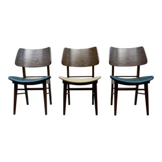Vintage Mid-Century Clam Shell Chairs - Set of 3