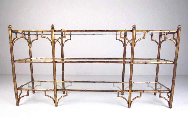 Faux Bamboo Gilt Console Table   Image 4 Of 7